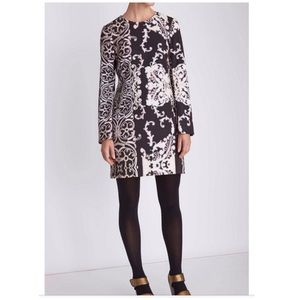 Nanette Lepore Scrollwork Shift Dress Bell Sleeve